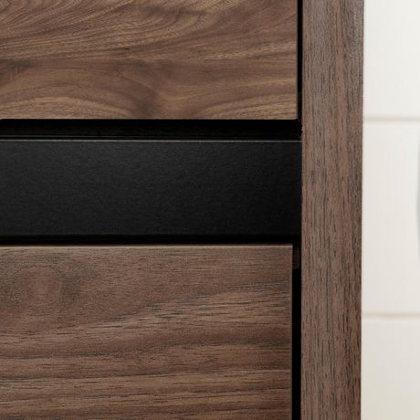 South Shore Flam 7-Drawer Double Dresser -Natural Walnut and Matte Black - image 6 of 7