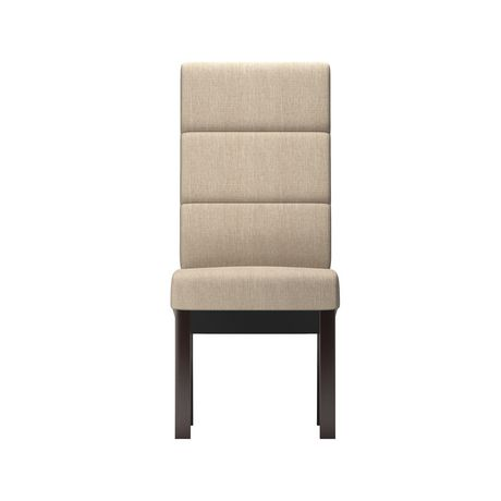 Corliving antonio set of 2 tall back cream upholstered for Cream upholstered dining chairs