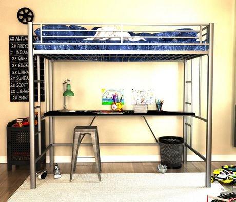 lit mezzanine une place en m tal avec bureau walmart canada. Black Bedroom Furniture Sets. Home Design Ideas