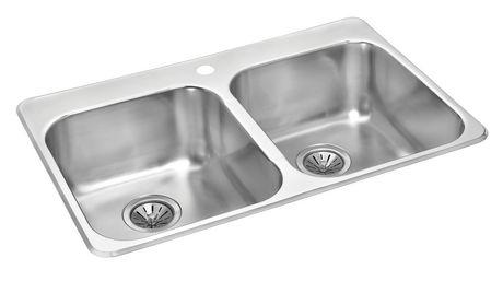Wessan Double Bowl Kitchen Sink   Walmart Canada
