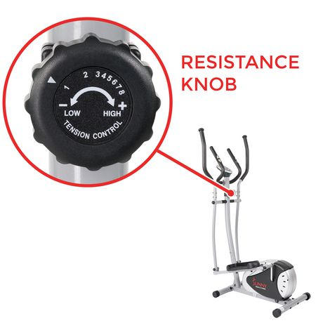 Sunny Health & Fitness SF-E905 Magnetic Elliptical Trainer - image 6 of 8
