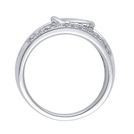 0.23 Ct T.W. Diamond Fashion Ring in Sterling Silver - image 2 of 4