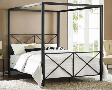 DHP Rosedale Metal Canopy Queen Bed - image 1 of 9 ... & DHP Rosedale Metal Canopy Queen Bed | Walmart Canada
