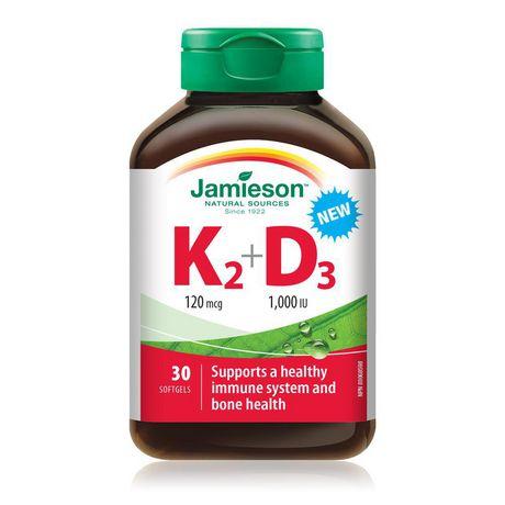 Jamieson Vitamin K2 120 Mcg + D3 1000 IU - image 1 of 3
