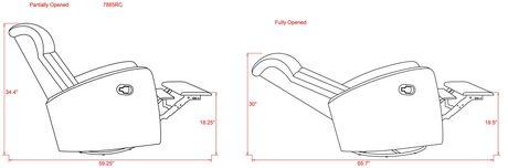 Lennox Florence Swivel Glider Recliner - image 8 of 9