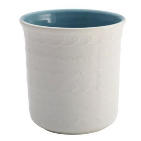 "Cake Boss Ceramic Tool Crock with ""Icing"" Pattern, white - image 1 of 1"