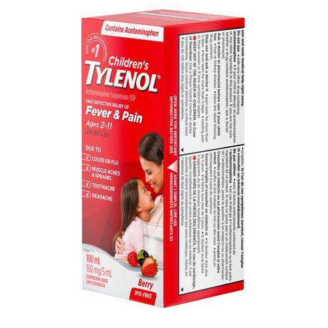 TYLENOL®Children's Acetaminophen Suspension Liquid - Dye-Free Soothing Berry, 100 ml - image 4 of 6
