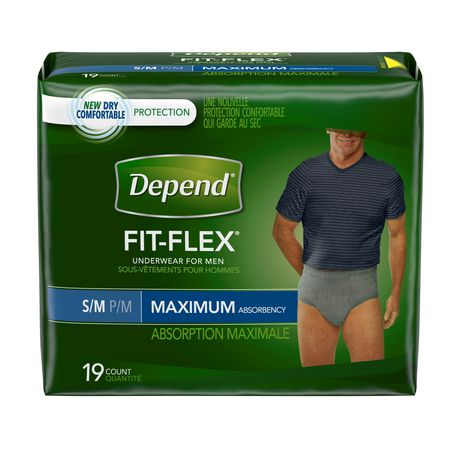 Depend Fit-Flex Incontinence Underwear for MEN, Maximum Absorbency - image 1 of 4