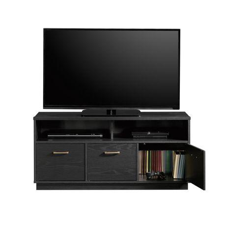 Sauder® Beginnings Collection 3-Door TV Console, True Black Oak Finish, 424534 - image 3 of 4
