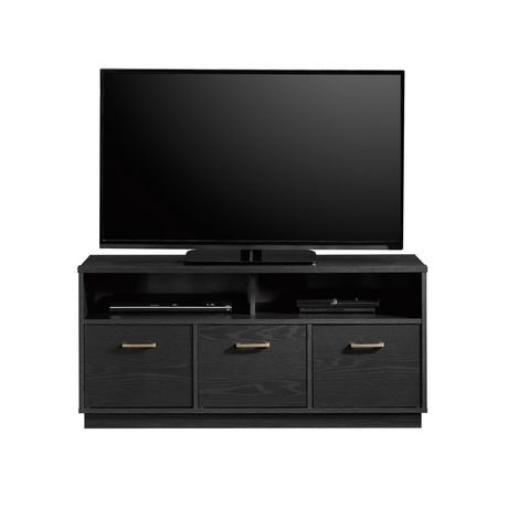 Sauder® Beginnings Collection 3-Door TV Console, True Black Oak Finish, 424534 - image 1 of 4