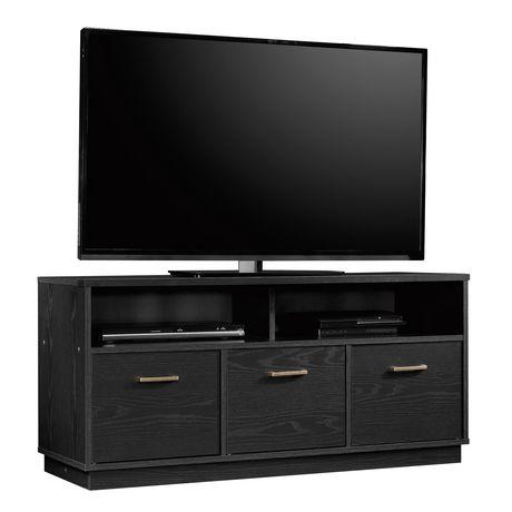Sauder® Beginnings Collection 3-Door TV Console, True Black Oak Finish, 424534 - image 2 of 4