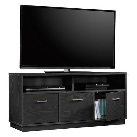 Sauder® Beginnings Collection 3-Door TV Console, True Black Oak Finish, 424534 - image 4 of 4