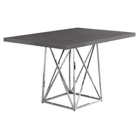 Monarch Specialties Grey Dining Table - image 2 of 3