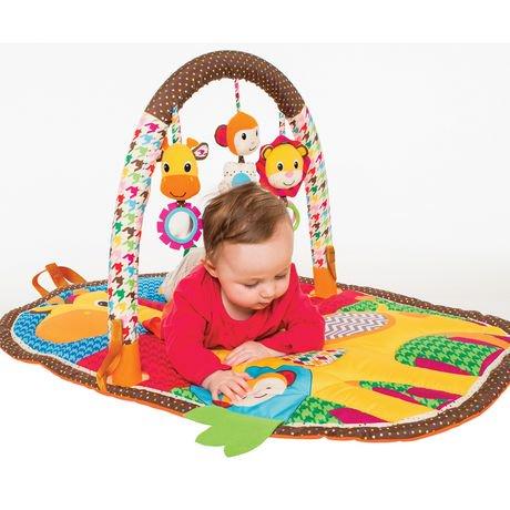 Infantino Llc Take Amp Play Safari Activity Gym Amp Play Mat