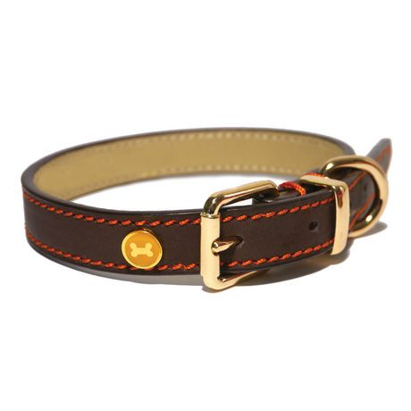 Rosewood Dog Collar Leather