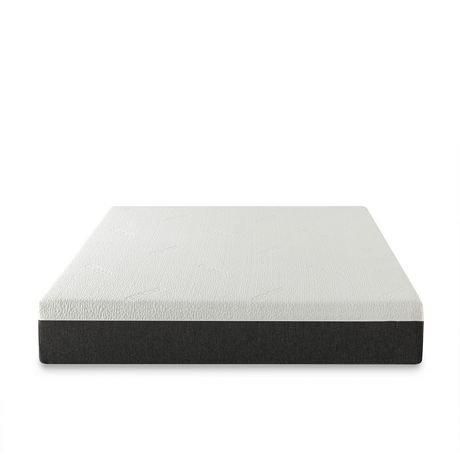 zinus 10 gel memory foam cool cover mattress. Black Bedroom Furniture Sets. Home Design Ideas