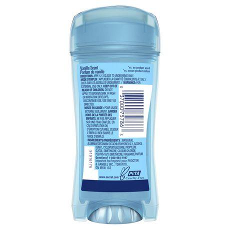 Secret Clear Gel Antiperspirant and Deodorant Va Va Vanilla - image 3 of 5