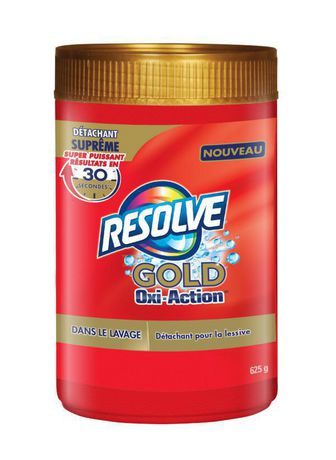Resolve Gold Oxi-Action, Ultimate Laundry Stain Remover, In-Wash Powder, All Colours, 625 g - image 2 of 4