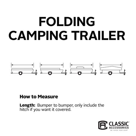 Classic Accessories Polypro 3 Folding Camping Trailer Cover, Fits 14' to 16' Long Trailers - image 4 of 5