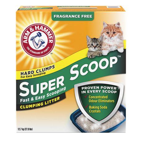 Litière agglomérante Super ScoopMC d'ARM & HAMMER(MC) sans parfum pour chats - image 1 de 2