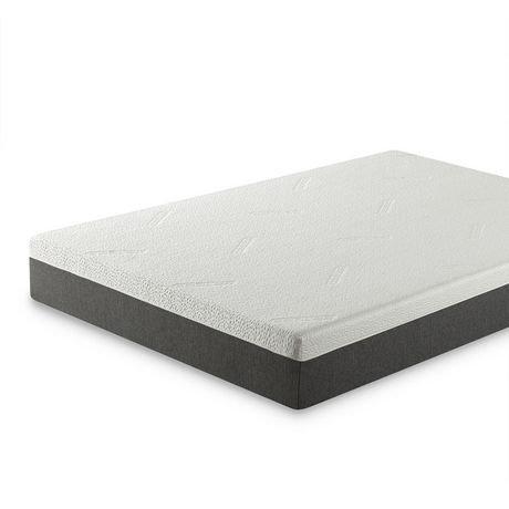 zinus 10 gel memory foam cool cover mattress walmart canada. Black Bedroom Furniture Sets. Home Design Ideas