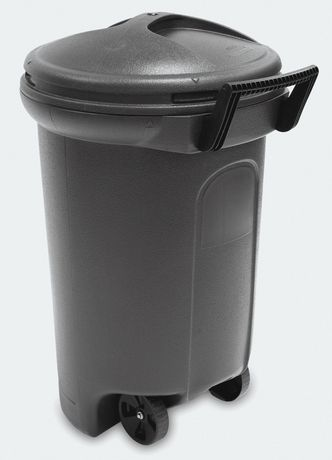 United Comb Amp Novelty 32 Gal Rubbermaid Wheeled Trash Can