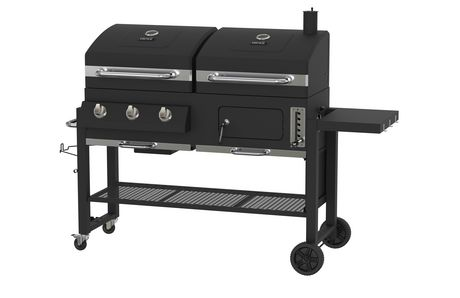 Backyard Grill 3 IN 1 Dual Fuel Gas and Charcoal 3 Burner ...
