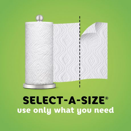 Bounty Select-A-Size Paper Towels, White, 6 Double Rolls - image 5 of 6