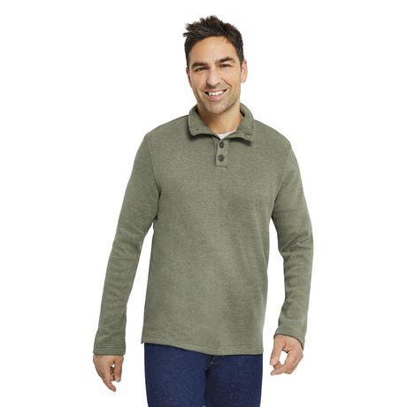 Sweat-shirt normal à col montant FLATBACK de George pour hommes - image 1 de 1