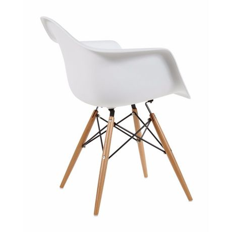 Chaise Eames Dar De Nicer Furniture A Jambes En Bois Et Blanc