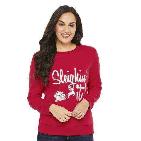 George Women s Sleigh Crew Neck Sweater  6036fd76f