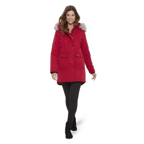 37187262ee1f5 Canadiana Women s Parka Jacket with Faux Fur Trim Hood - image 1 ...