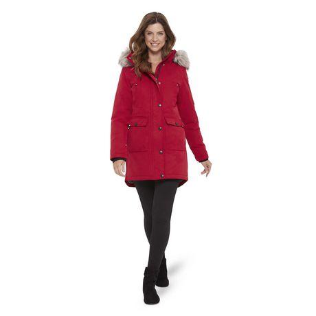 c7ef10f70 Canadiana Women's Parka Jacket with Faux Fur Trim Hood
