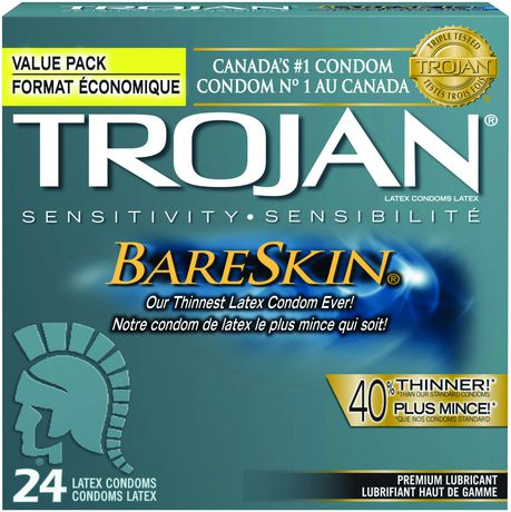 Trojan® Bareskin® Premium Lubricant Latex Value Pack Condoms ...