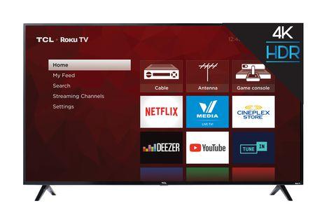 "TCL 65"" CLASS 4-SERIES 4K UHD HDR LED ROKU SMART TV, 65S421-CA - image 1 of 8"