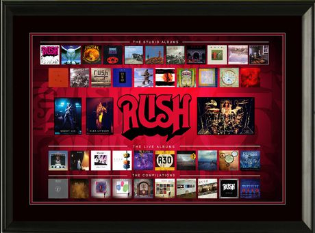 Rush Framed Album Collection Collage - image 1 of 1