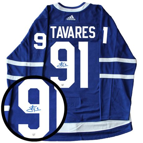 63df0b9b231 John Tavares Signed Jersey Pro Adidas Toronto Maple Leafs Home Blue - image  1 of 1 ...