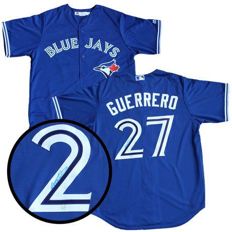 bdc4be70edd Vlad Guerrero Signed Jersey Blue Jays Replica Blue - image 1 of 1 ...