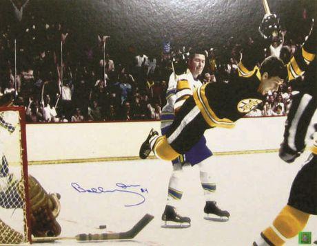Orr Signé 16x20 Bruins Sans Cadre Noir L'objectif Couleur - image 1 de 1