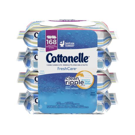Cottonelle FreshCare Flushable Cleansing Cloths - image 1 of 4