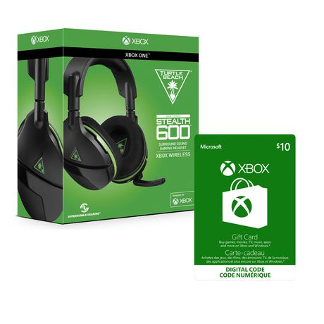 Turtle Beach® Stealth 600 Wireless Surround Sound Gaming Headset For Xbox One With Xbox Live Gift Card $10 Cad [Download] by Thrustmaster