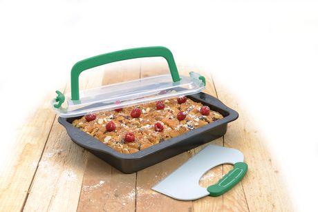 Moule à gâteau de 9 x 13 po avec outil et couvercle Perfect Slice de BergHOFF - image 1 de 2
