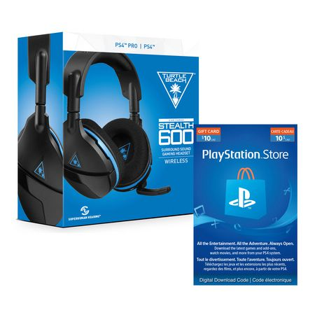 765d44a8121 Turtle BEACH® Stealth 600 Wireless Surround Sound Gaming Headset for  PlayStation®4 PRO And PlayStation®4 with PlayStation®Network – $10  Electronic Code