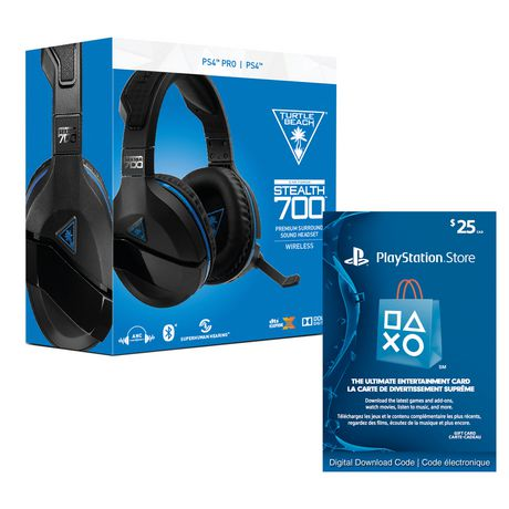 88430970a55 Turtle BEACH® Stealth 700 Premium Wireless Surround Sound Gaming Headset for  PlayStation®4 PRO And PlayStation®4 with PlayStation®Network – $25  Electronic ...
