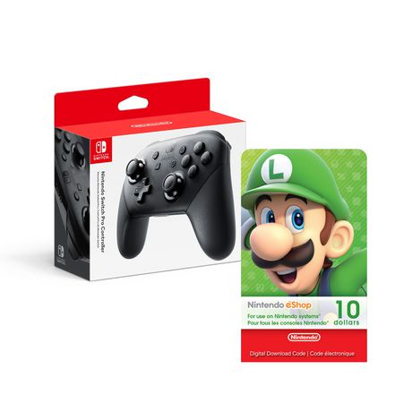 Nintendo Switch Pro Controller With E Cash $10 [Download] by Nintendo