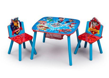 ens table et chaise avec rangement la pat 39 patrouille. Black Bedroom Furniture Sets. Home Design Ideas