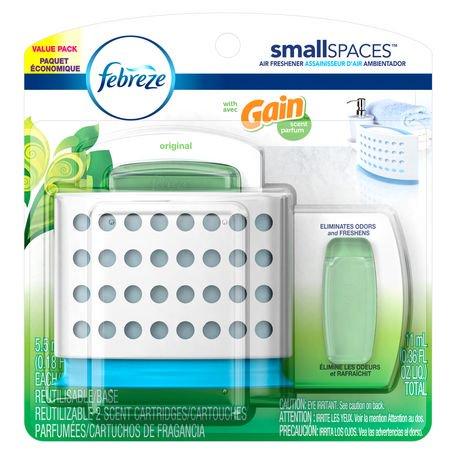 Febreze SmallSpaces with Gain Original Starter Kit and Refills Value ...