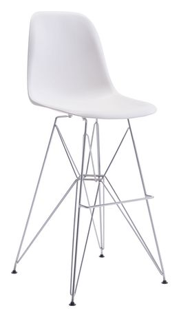 Zuo Modern Zip White Bar Chair Walmart Canada