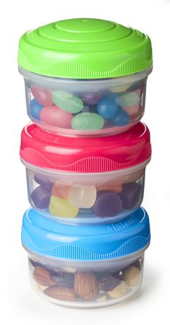 Rubbermaid Sistema Small Mini Bites Snack Containers, 3 Count - image 3 of 3