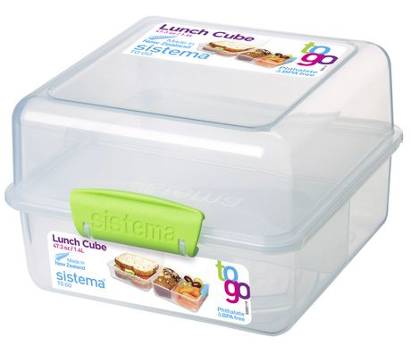 Sistema To Go Lunch Cube Food Storage Container